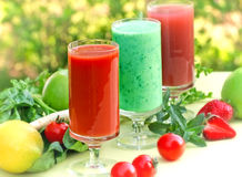 Healthy organic smoothies Royalty Free Stock Image