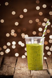 Healthy organic vegetable and herb smoothie Royalty Free Stock Photography