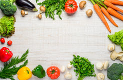 Healthy Organic Vegetables in Copy Space Frame Royalty Free Stock Photo