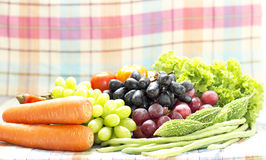 Healthy  organic Vegetables and fruit Royalty Free Stock Photos