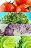 Healthy Organic Vegetables and Fruits Stock Images