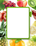 Healthy Organic Vegetables and Fruits Stock Photography