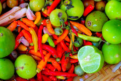 Healthy Organic Vegetables Thai food Cooking ingredients. Healthy Organic Vegetables Thai food Cooking ingredients Royalty Free Stock Photography