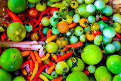 Healthy Organic Vegetables Thai food Cooking ingredients. Healthy Organic Vegetables Thai food Cooking ingredients Royalty Free Stock Images