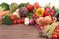 Raw vegetables Stock Photo