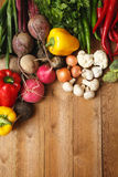 Healthy Organic Vegetables on a Wooden Background.  Stock Photography