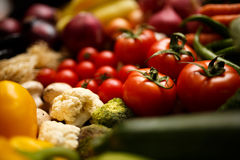 Healthy Organic Vegetables on a Wooden Background Stock Images