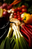 Healthy Organic Vegetables on a Wooden Background.  Royalty Free Stock Photo