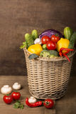 Healthy Organic Vegetables on a Wooden Background Royalty Free Stock Images