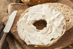 Healthy Organic Whole Grain Bagel Royalty Free Stock Images