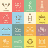 Healthy outline design Stock Images