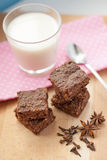 Healthy paleo brownies Royalty Free Stock Photography