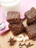Healthy paleo brownies Royalty Free Stock Images