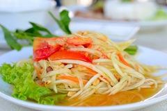 Healthy Papaya Salad Royalty Free Stock Photography