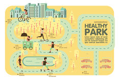Healthy park Recreation info graphic Stock Photography