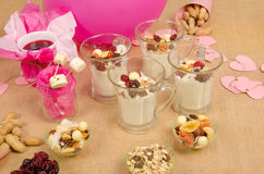 Healthy party snacks Royalty Free Stock Images