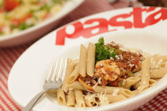 Healthy pasta bolognese and pasta salad Royalty Free Stock Images