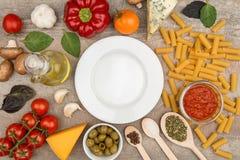 Healthy pasta ingredients Royalty Free Stock Photos