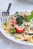 Healthy Pasta Primavera Stock Photo
