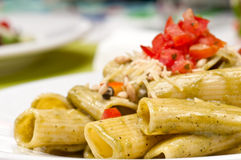 Healthy pasta salad Royalty Free Stock Image