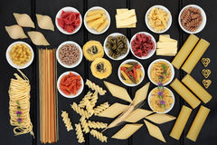 Healthy Pasta Selection Royalty Free Stock Photography
