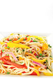 Healthy pasta with vegetables. Shot of healthy pasta with vegetables Royalty Free Stock Photo