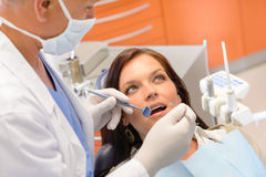 Healthy patient at dentist office Royalty Free Stock Image