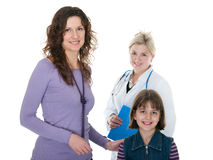 Healthy patients thnk their doctor Stock Photography