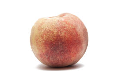 Healthy peach isolated on white Royalty Free Stock Photography