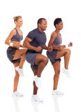Healthy people exercise Stock Photo