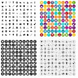 100 healthy person icons set vector variant. 100 healthy person icons set vector in 4 variant for any web design isolated on white royalty free illustration