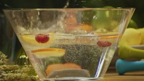 Healthy, PH neutral infused water stock video