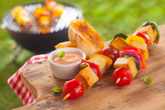 Healthy picnic lunch at a summer barbecue Royalty Free Stock Images