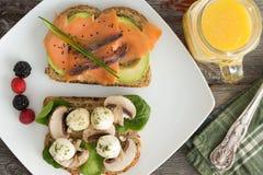 Healthy picnic snacks with orange juice Royalty Free Stock Photo