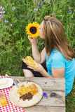 Healthy picnic Stock Photography