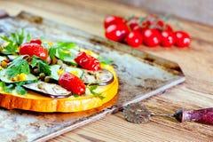 Healthy pizza royalty free stock photo