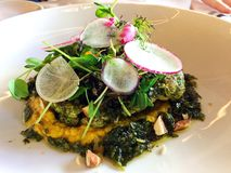 Healthy Plant Based Cauliflower Steak Dish