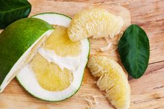 Healthy Pomelo Or Chinese Grapefruit Stock Photos