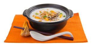 Healthy porridge cooked with sweet potato Stock Photography