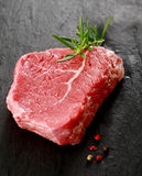 Healthy portion of lean uncooked beef steak Royalty Free Stock Photos