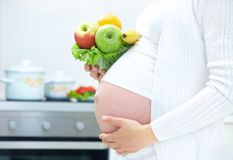 Healthy pregnancy Stock Photos