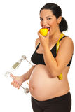 Healthy pregnant woman Stock Image