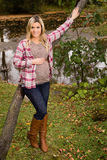 Healthy pregnant woman in a park. Stock Photography