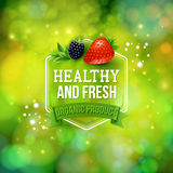 Healthy Product card vector design Stock Image
