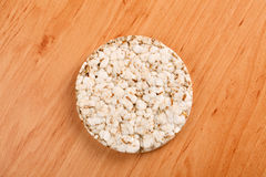 Healthy puffed corn galettes Royalty Free Stock Images