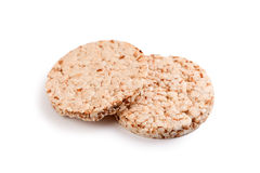 Healthy puffed corn galettes Royalty Free Stock Photos