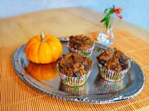 Healthy Pumpkin Muffins Royalty Free Stock Image