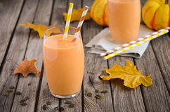 Healthy pumpkin smoothie Stock Photography