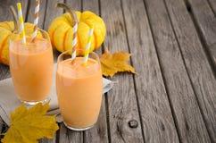 Healthy pumpkin smoothie Stock Photos