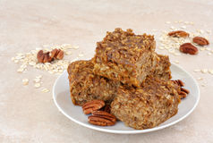 Healthy, pumpkin snack bars. Royalty Free Stock Images